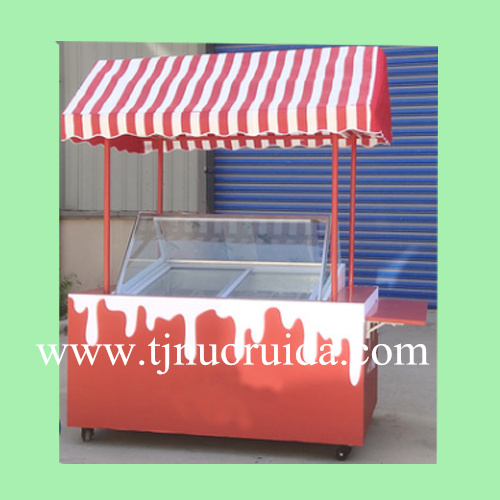 Customized Ice cream trolley popsicle hand push cart
