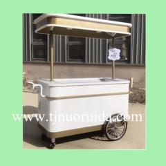 High Quality Hot Sale Gelato Ice Cream Cart Ice Cream Push Cart With Freezer For