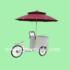 Outdoor Mobile Ice Cream Electric Vending Freezer Tricycle bike carts